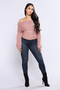 Cozy Corded Sweater - Pink