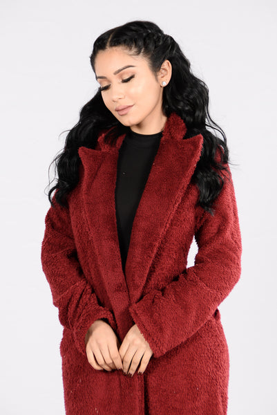 Softy At Heart Jacket - Wine