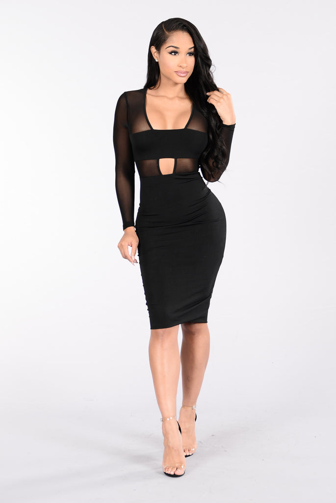 Instant Friend Dress - Black