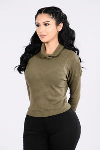 Turtleneck On Deck Top - Olive