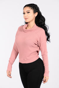 Turtleneck On Deck Top - Mauve