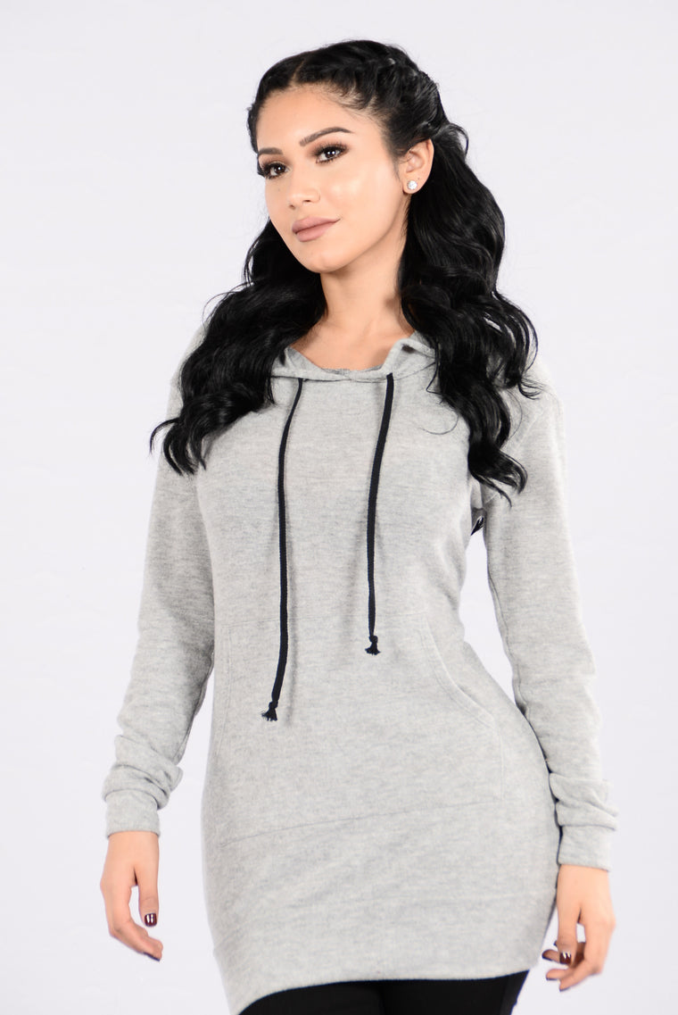 Streety Girl Tunic - Heather Grey