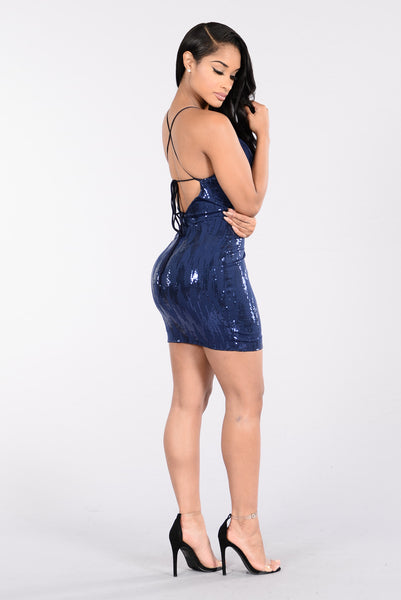 Be Forgiving Dress - Navy
