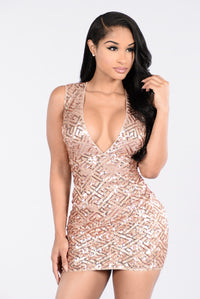 Love To Love You Dress - Rose Gold