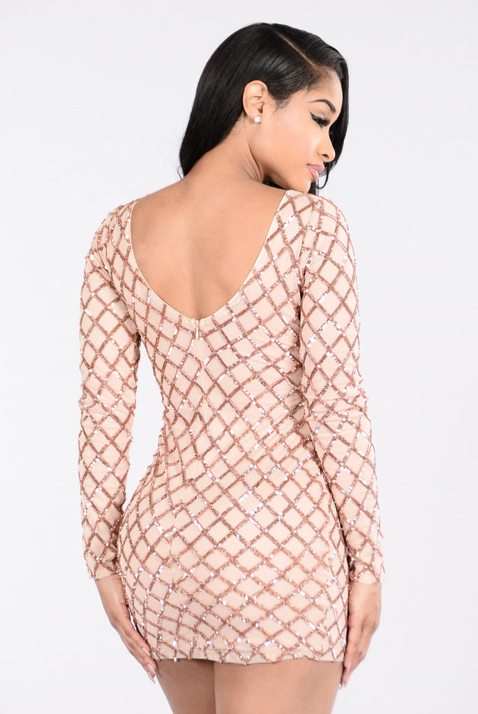 Know What I Want Dress - Gold