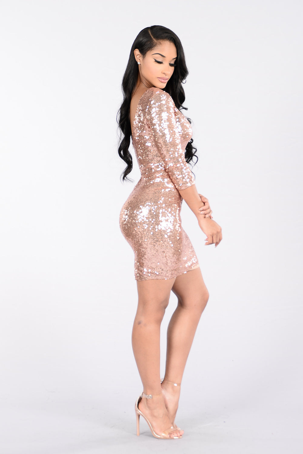 Rock Your World Dress - Rose Gold