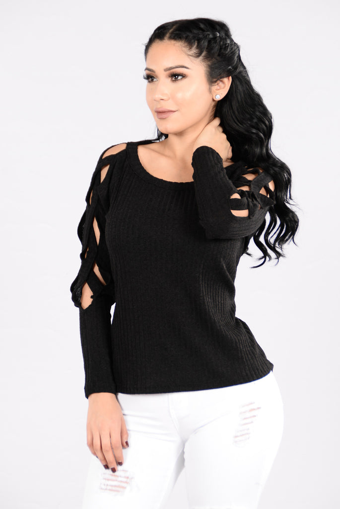 Can't Catch A Break Sweater - Black