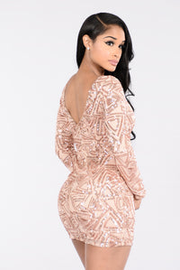 Party Favor Dress - Rose Gold