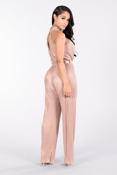 Power Pose Jumpsuit - Mocha