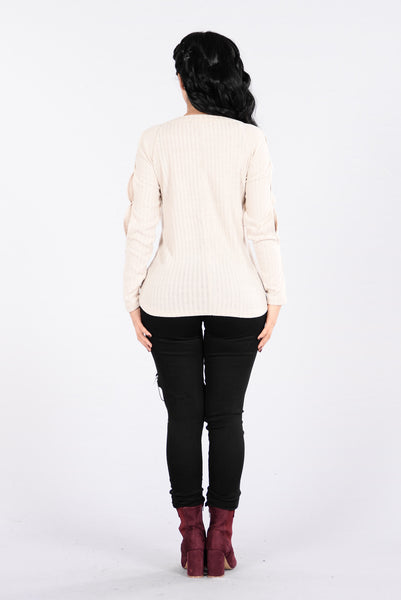 Can't Catch A Break Sweater - Taupe