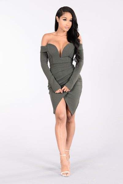 Cruise Control Dress - Olive