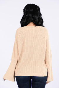 Running With The Night Sweater - Beige Angle 2