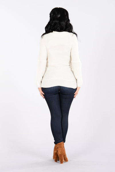 Get A Hold Of Me Sweater - Light Grey