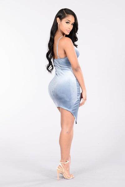 On Your Mind Dress - Grey/Blue