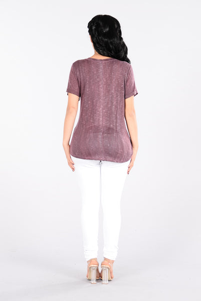 Shake The Spot Top - Burgundy