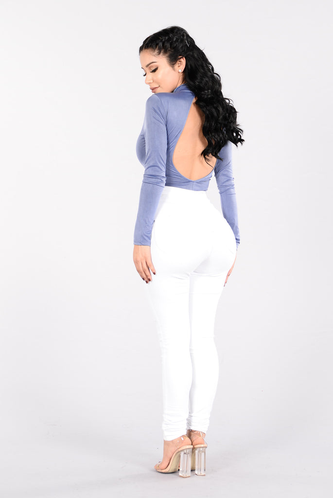 Don't Let It End Bodysuit - Indigo