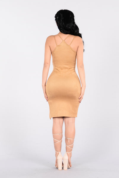 Truthfully Yours Dress - Camel