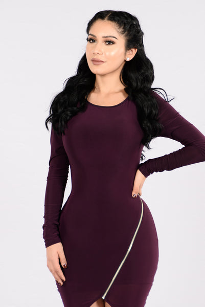 Let's Splurge Dress - Plum