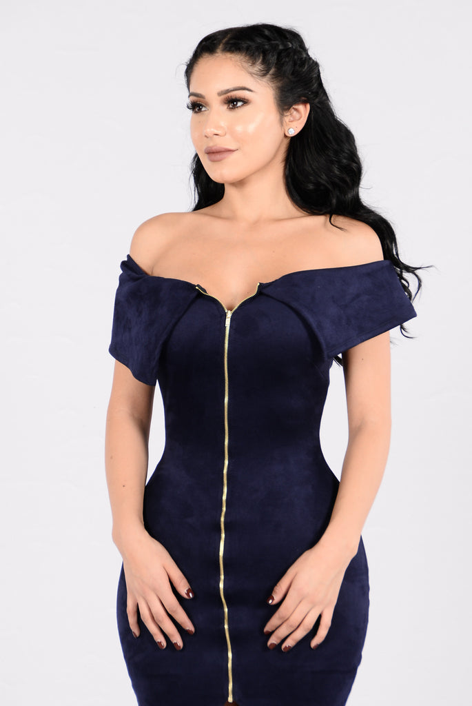 Mrs. Elegant Girl Dress - Navy