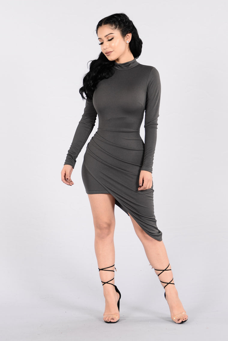 One On One Dress - Charcoal