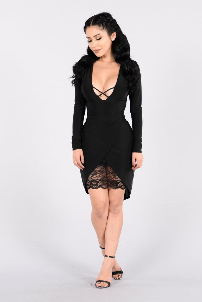 If It Wasn't For Me Dress - Black