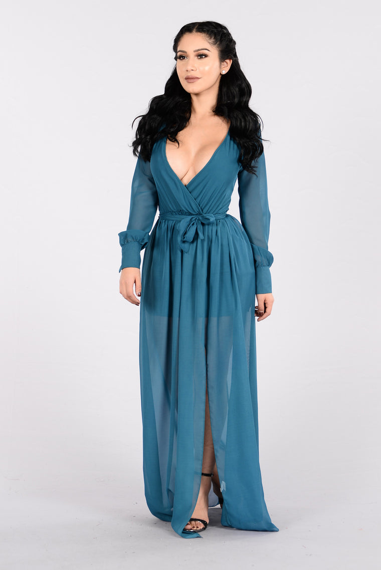 Everything to Me Dress - Teal
