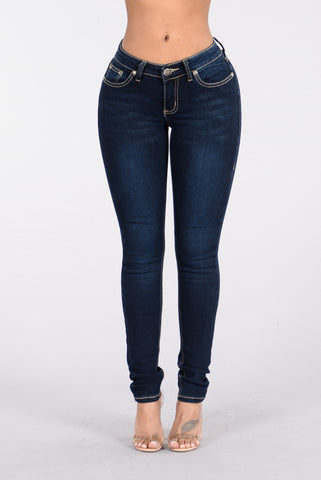 Waiting For Your Love Jeans - Dark Blue