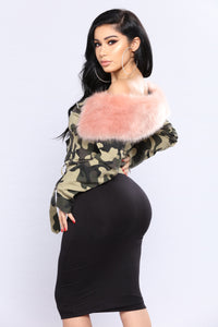 Going Incognito Camo Jacket - Camo/Pink