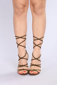 Tangled Up With You Heel - Olive