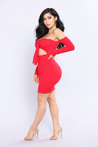 Angels Cry Mini Dress - Red