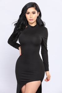 Anissa Asymmetrical Dress - Black