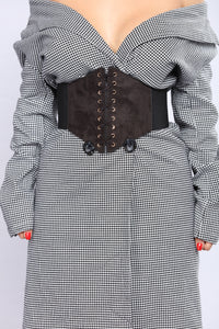 Everything I Need Corset Belt - Black