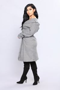 Tribeca Checkered Coat - Black/White