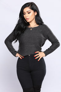 Juliette Sweater - Charcoal