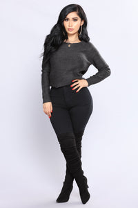 Juliette Sweater - Charcoal Angle 4