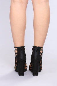April Caged Heel - Black