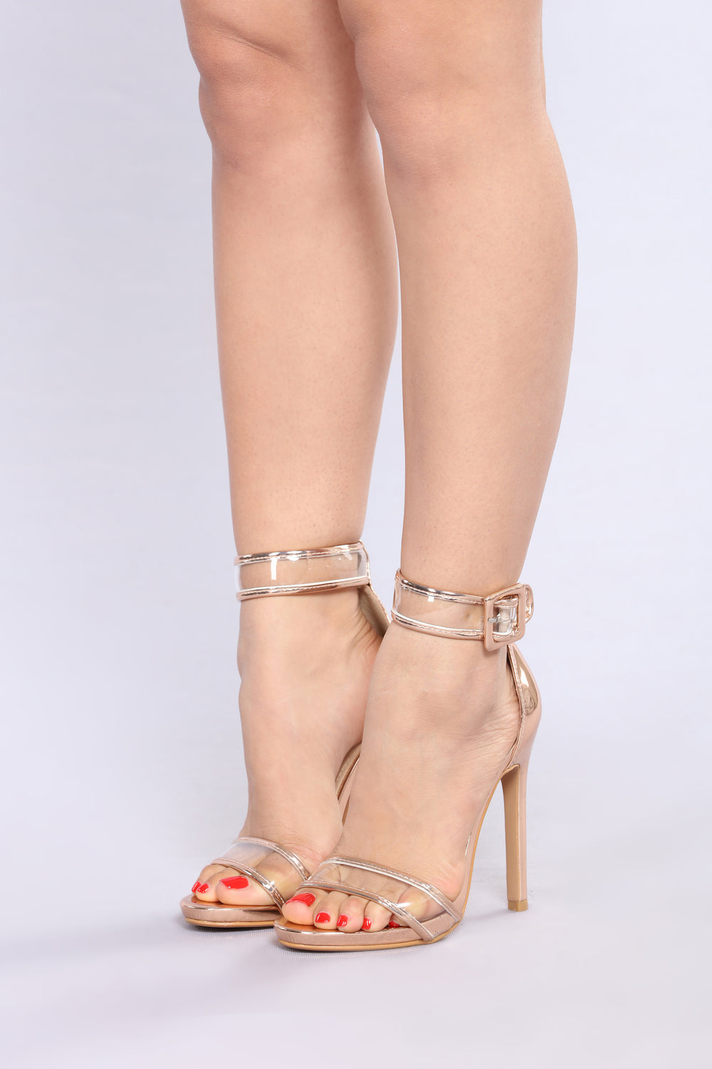 Touch Of Clear Heel - Rose Gold
