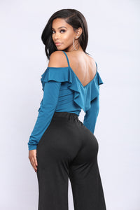 Cold In The Ruff Bodysuit - Teal