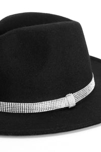 Ice Out My Fedora Hat - Black