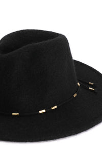 Hip Horay Fedora Hat - Black Angle 2