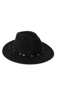 Hip Horay Fedora Hat - Black Angle 1