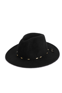 Hip Horay Fedora Hat - Black Angle 3