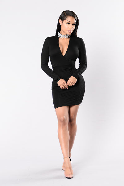 One More Night Dress - Black