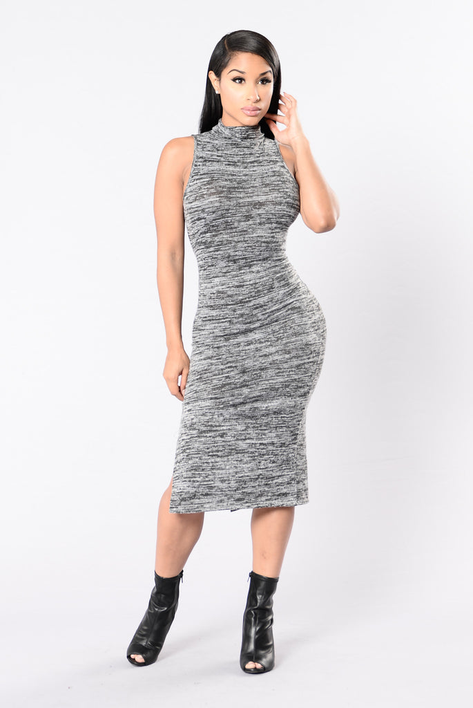 Midtown Dress - Charcoal Grey
