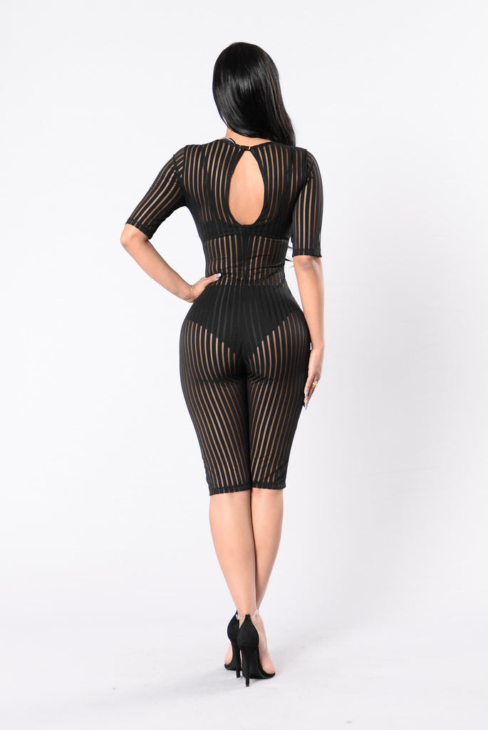 Hiding In The Shadows Jumpsuit - Black