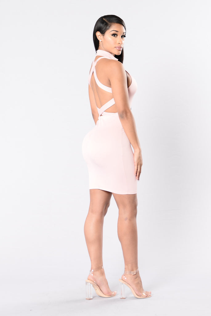 Latch On Dress - Pink Sand