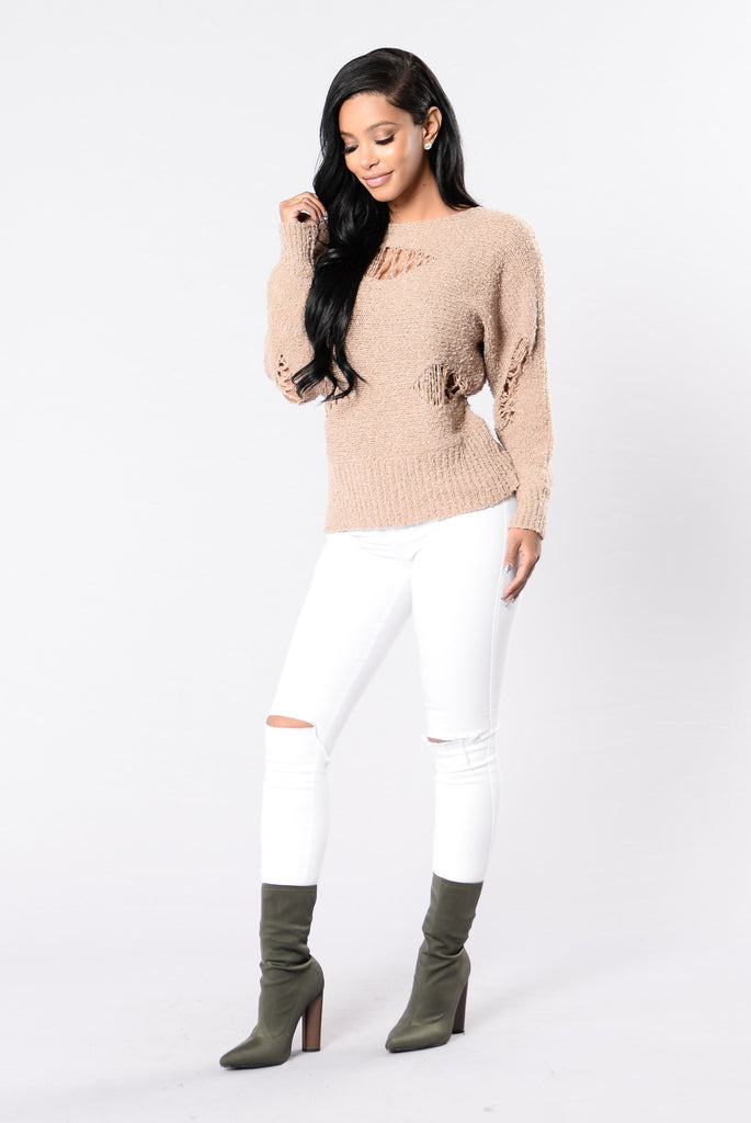 Train Wave Sweater - Mocha