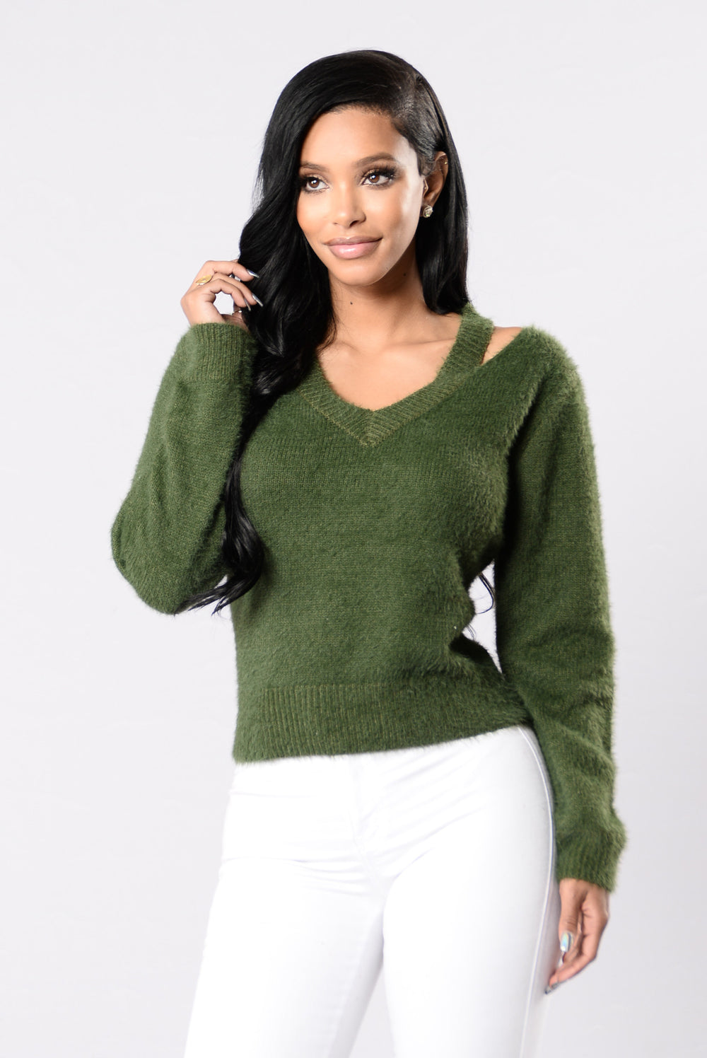 One Thing Sweater - Olive