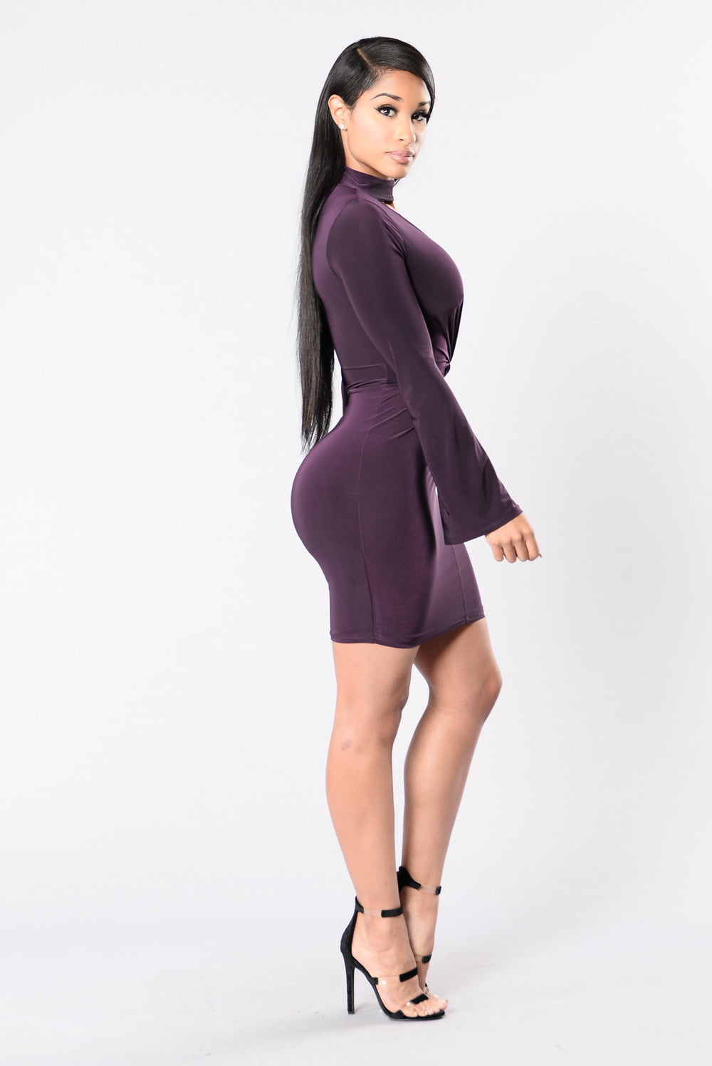 New Beginnings Dress - Eggplant