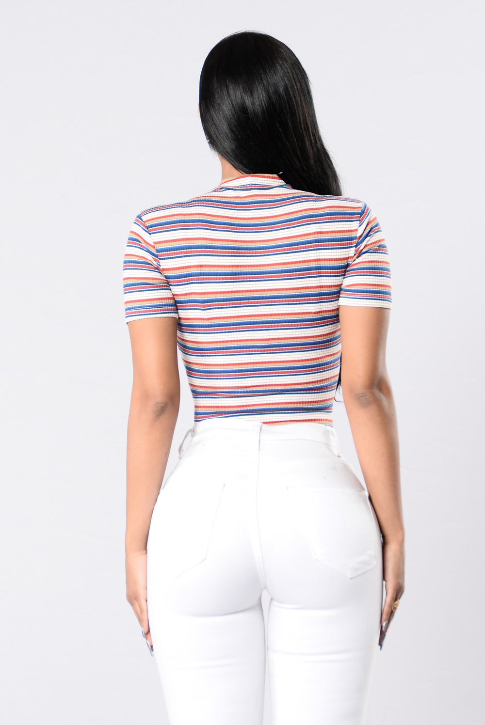 Stripes Types Bodysuit - Blue Stripe